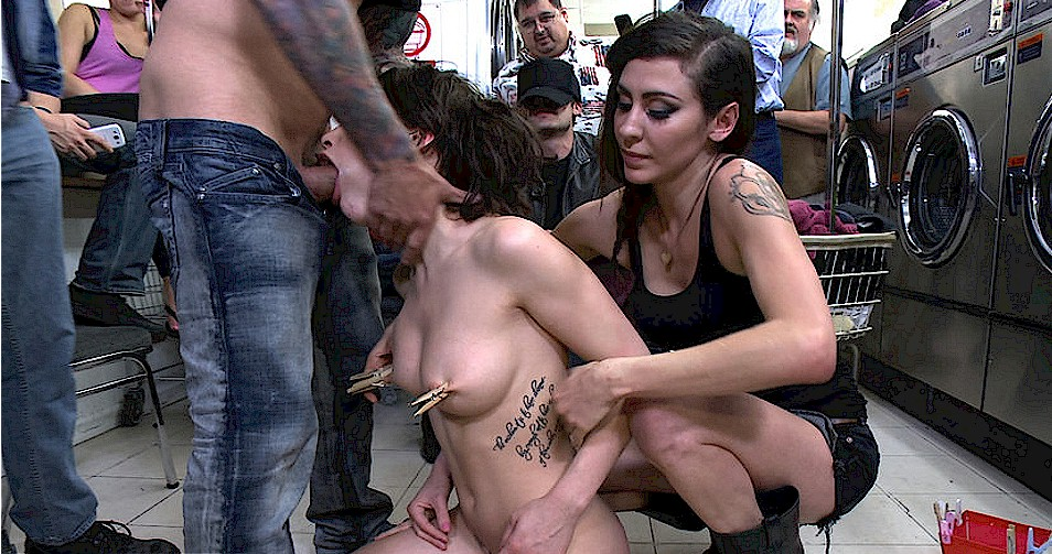 Hard-core public hook-up with femmes..