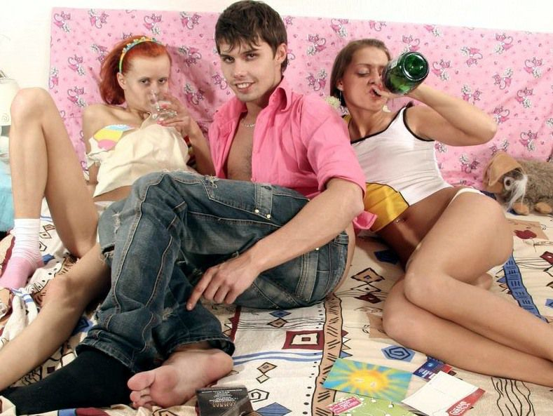 2 youngster gals seduced queer..
