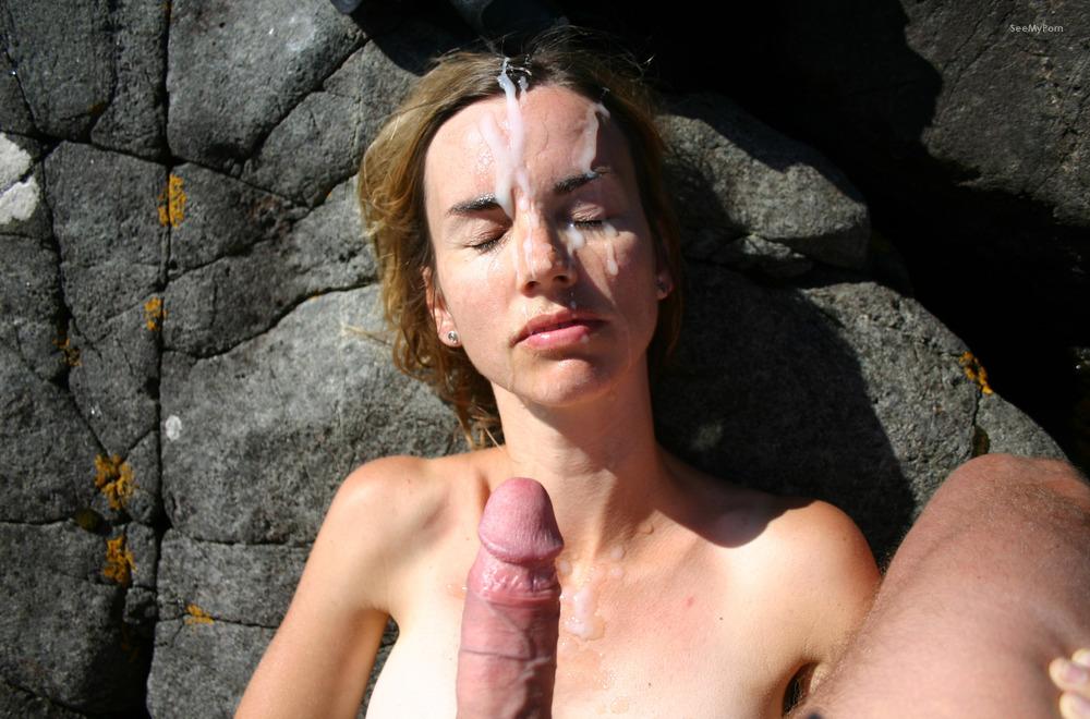 Super hot wifey coated in cum by..